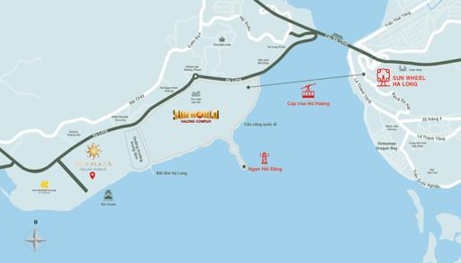 Vị trí Dự án Chung cư Sun Group Hạ Long