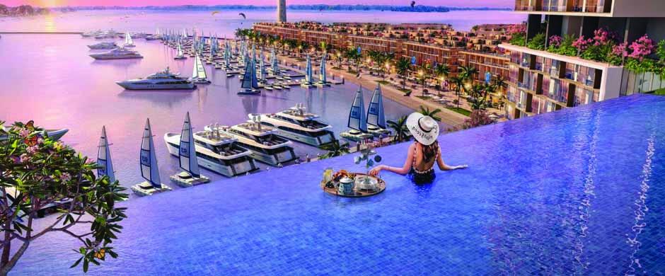 Bể bơi vô cực dự án chung cư sun marina hạ long